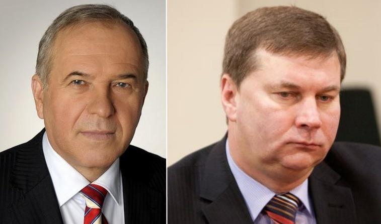 Darbo partijos atstovas Ritas Vaiginas (dešinėje) ir socialdemokratas Aleksandras Zeltinis