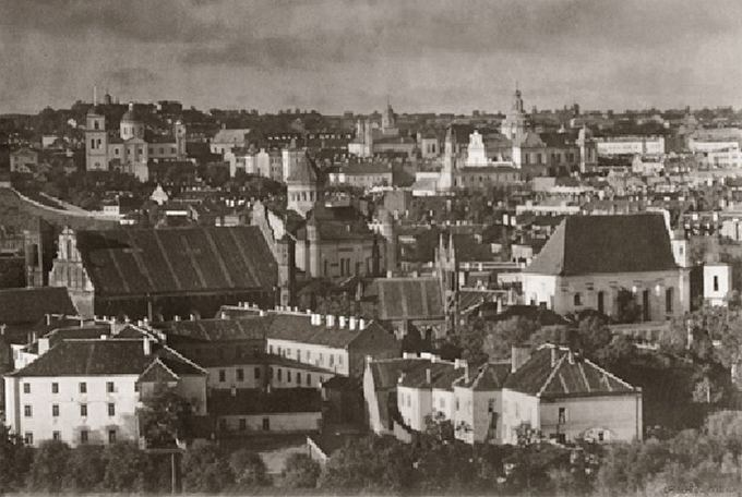 Jano Bulhako nuotr. ia Lietuvos nacionalinio muziejaus archyvo/Senamiesčio panorama. 1912-1915 m.