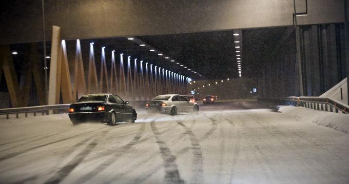 Ryčio Č. nuotr./Naktiniai pasivažinėjimai žiemą