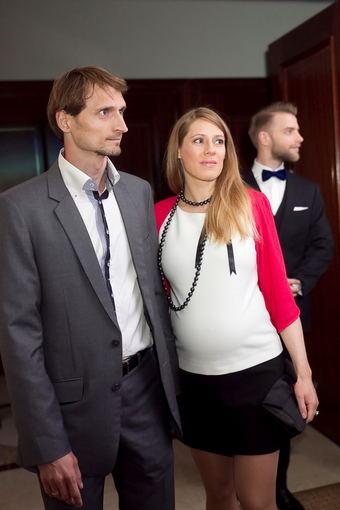 Edvinas Krungolcas su žmona Vesta