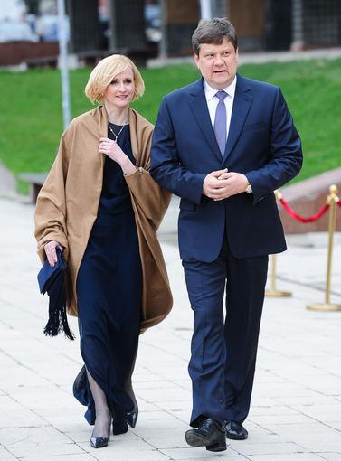 Luko Balandžio nuotr./Jolanta Mikalajūnienė su vyru Dangiru