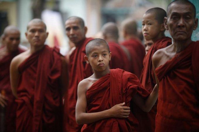 """""""Scanpix"""" nuotr./Budistų vienuoliai"""