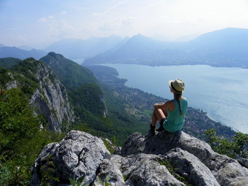 Ansi ežeras nuo Verjė kalno viršūnės