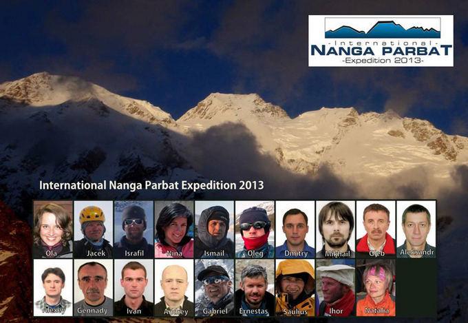 Ekspedicijos puslapio socialiniame tinkle Facebook nuotr./Į Nanga Parbat kopsiantys tarptautinės ekspedicijos nariai