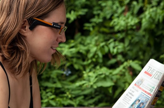 """""""OrCam"""" akiniai"""