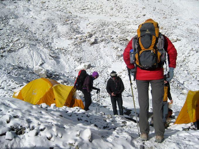 E.Nichols nuotr./12. Ryte sniegas IBC stovykloje, tuoj eisime link ABC