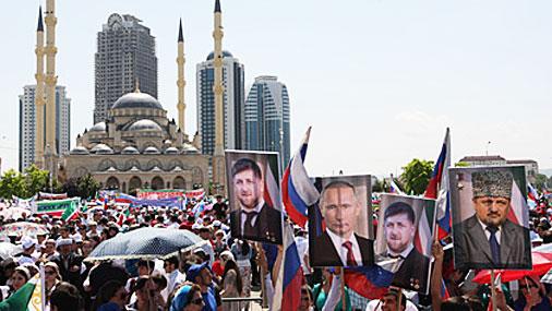 В Грозном 115 тысяч человек спели гимн России