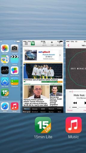 """Pauliaus Orino / iTouch.lt nuotr./Mobilioji operacinė sistema """"iOS 7"""""""