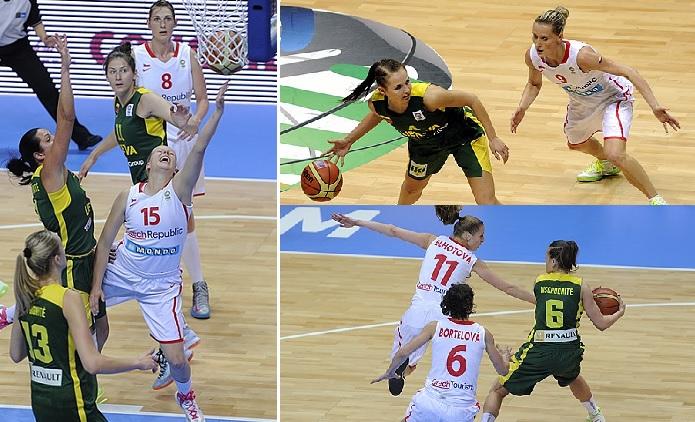 Lietuvos moterų krepšinio rinktinė neprilygo čekėms