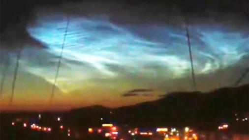 В Челябинске осветили ночное небо. В этот раз не метеорит