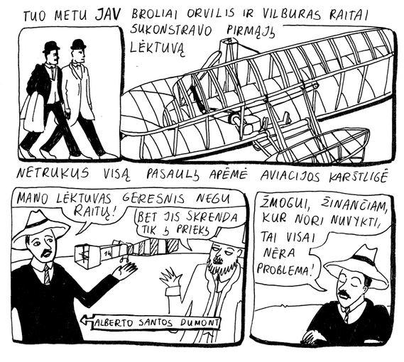 """Miglės Anušauskaitės iliustr./Komiksas """"10 litų"""""""