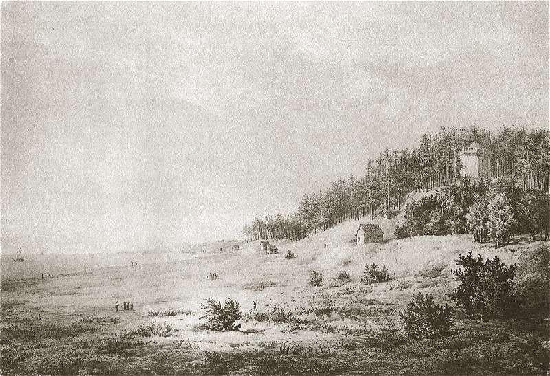 Palanga, Birutės kalnas XIX amžiuje.