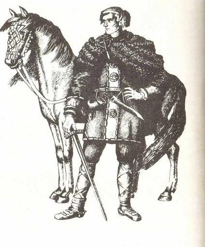 Lietuvių kariai iš pradžių dažniausiai kaudavosi nulipę nuo žirgo.
