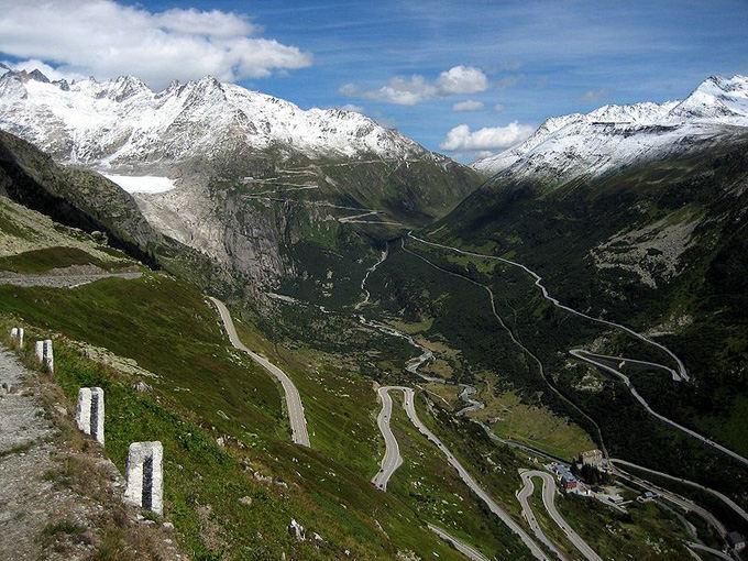 Wikipedia.org nuotr./Furka Pass kelias