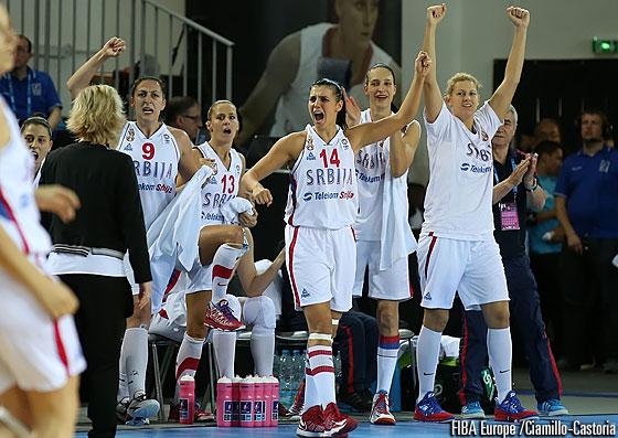 Serbijos krepšininkės pirmą kartą žais Europos moterų čempionato pusfinalyje
