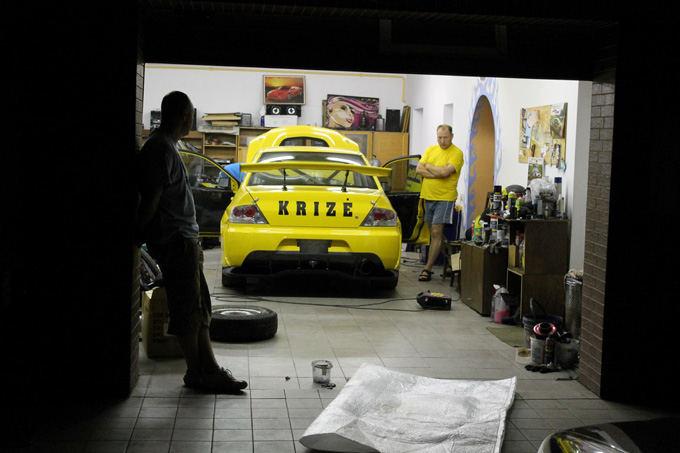 Autus racing komandos nuotr./Mitsubishi Lancer Evo IX