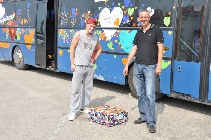 Laikraačio Kalvotoji Žemaitija nuotr./Svajonių autobusas keliauja per Lietuvą