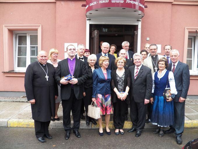 Valdo Auaros nuotr./Vokietijos prezidentas Joachimas Gauckas Klaipėdoje susitiko su Lietuvos liuteronų bažnyčios, Vokiečių bendrijos bei Vilko vaikų atstovais.