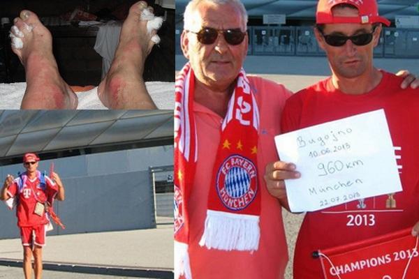 """Miuncheno """"Bayern"""" gerbėjas įveikė beveik 1000 kilometrų pėsčiomis"""