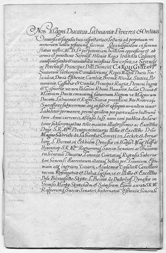 Kėdainių sutarties originalas