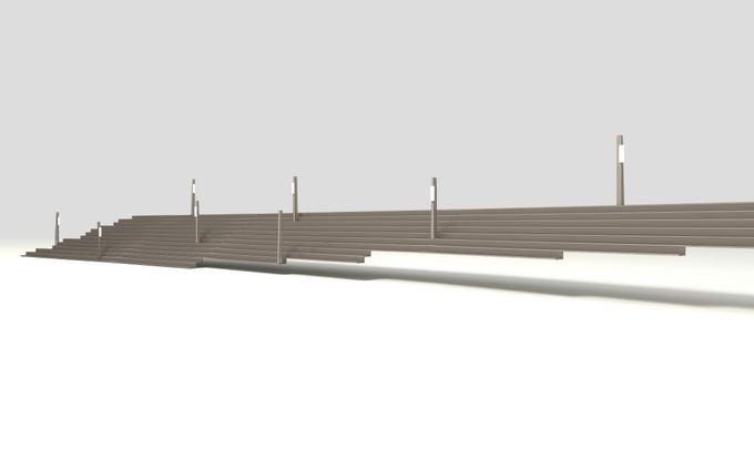 Amfiteatro aalia Kauno pilies vizualizacija