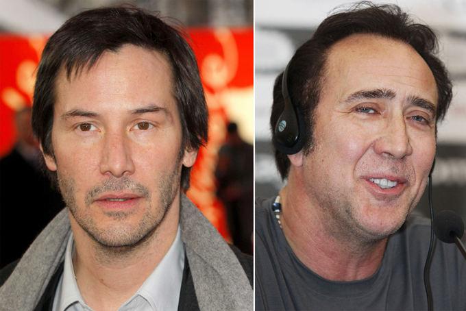 Scanpix nuotr. / Ia kairės: aktoriai Keanu Reeves ir Nicolas Cageas