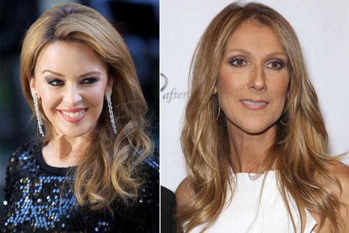 Scanpix nuotr. / Ia kairės: atlikėjos Kylie Minogue ir Celine Dion