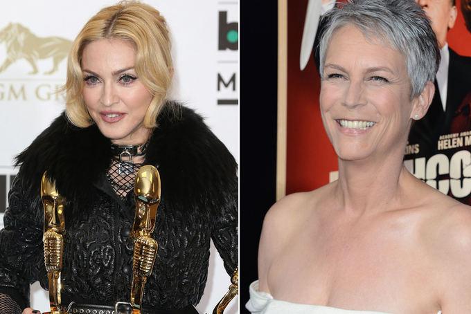 Scanpix nuotr. / Kairėje: aktorė Jamie Lee Curtis ir atlikėja Madonna
