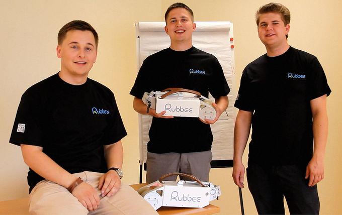 Rubbee komanda: G.Nemanis,M.Bliujus ir L.Jokužis