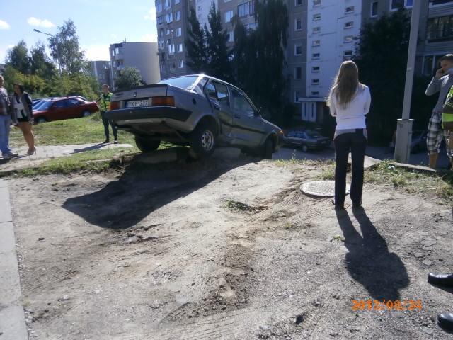 Avarija Vilniuje, S.Stanevičiaus gatvėje