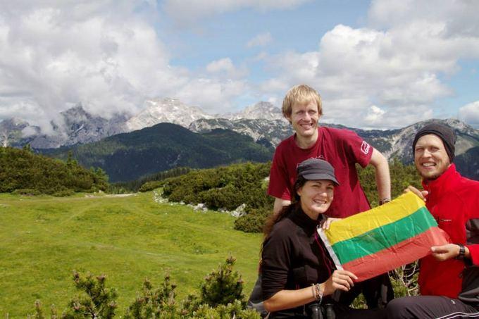 Evelinos ir Karolio nuotr./Komanda Alpių kalnuose