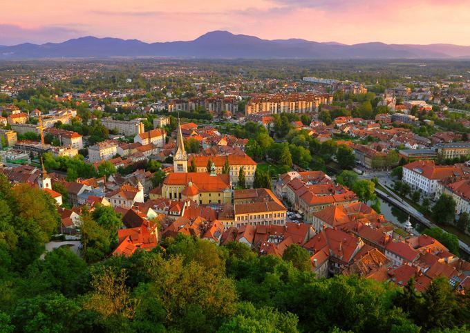 123rf.com nuotr./Liubliana saulei leidžiantis