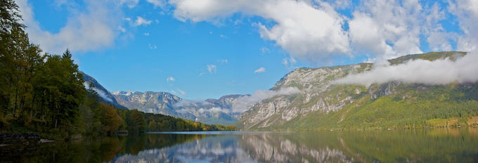 Will Ockenden nuotr./Bohinj ežero panorama