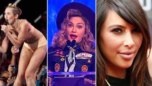 Майли Сайрус, Мадонна, Ким Кардашьян