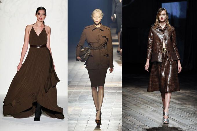 Scanpix ir Mercedez Benz Fashion Week nuotr. /Iš kairės: CZAR by Cesar Galindo modelis Niujorke, Lanvin rudens kolekcija Paryžiaus mados savaitėje ir Prada kolekcija Milane.