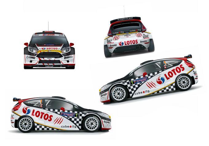 ((Lotos Rally Team nuotr.))/Naujas lenkų čempiono ralio bolidas  Ford Fiesta R5