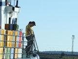 Kam stinga vietos krantinės, dažnai meškerioja nuo prišvartuotų laivų bortų