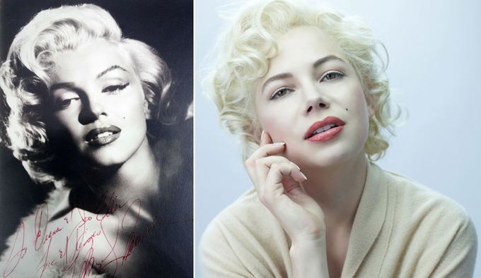 Scanpix nuotr. / Kairėje: Marilyn Monroe, deainėje: Michelle Williams.