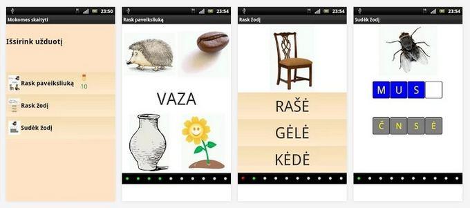 Google Play iliustr./Mobilioji aplikacija Mokomės skaityti