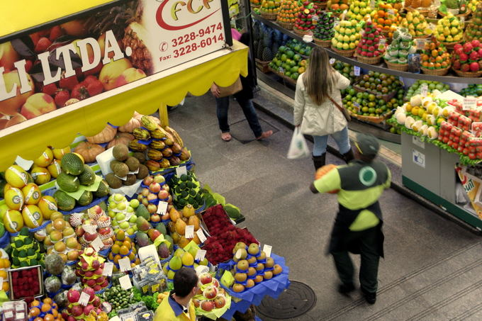 A.Baranauskaitės nuotr./Centrinis San Paulo turgus  rojus vaisių mėgėjams