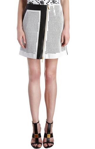 Emanuel Ungaro odinis sijonas su lazeriu išpjautais taškais iš barneys.com.