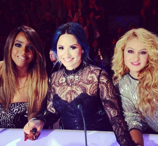 """""""Instagram"""" nuotr./""""X faktoriaus"""" teisėjos Kelly Rowland, Demi Lovato ir Paulina Rubio"""