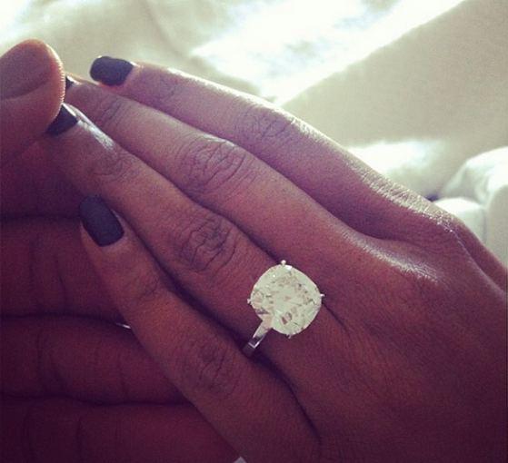 Instagram nuotr./Gabrielle Union sužadėtuvių žiedas
