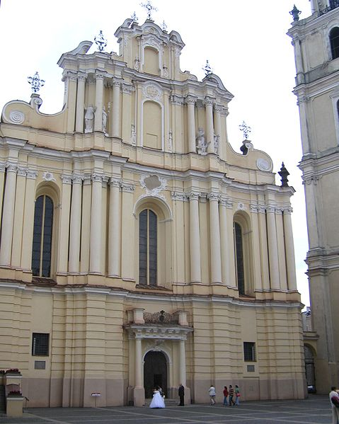 Šventų Jonų bažnyčios fasadas - garsiausias J.Ch.Glaubitzo kūrinys