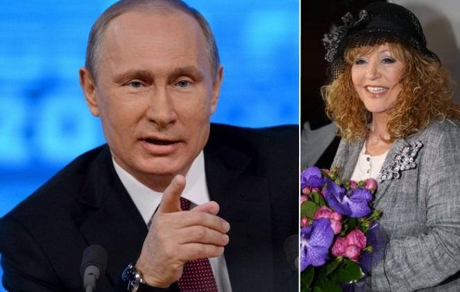 Vladimiras Putinas ir Ala Pugačiova