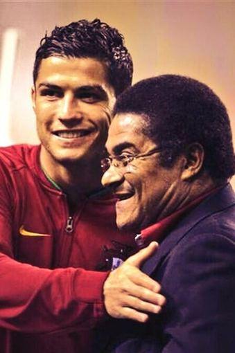 twitter.com/@Cristiano nuotr./Cristiano Ronaldo ir Eusebio