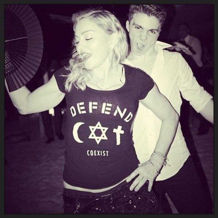 """""""Instagram"""" nuotr./Madonna su sūnumi Rocco"""
