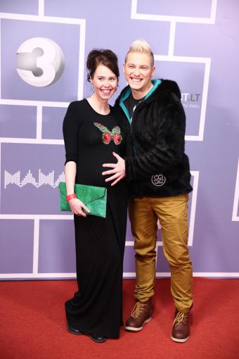 Luko Balandžio/Žmonės.lt nuotr./Vilius Tamošaitis su žmona Ingrida