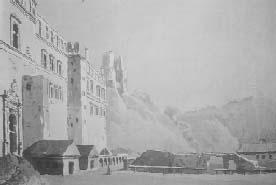 Pranciškus Smuglevičius. Didžiųjų kunigaikščių rūmų vaizdas iš pietų pusės