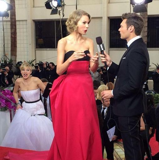 """Instagram"" nuotr./Jennifer Lawrence per ""Auksinius gaublius"" norėjo sugadinti Taylor Swift interviu"